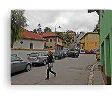 A streetscape Canvas Print