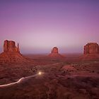Monument Valley National Park - West Mitten, East Mitten and Merrick Butte by Andrew Vox