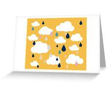 Golden Rainy Days Greeting Card