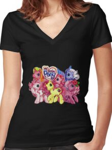 Vintage My Little Pony Women's Fitted V-Neck T-Shirt