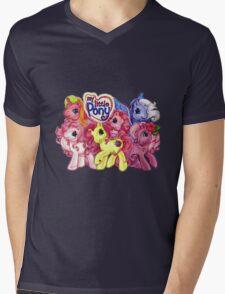 Vintage My Little Pony Mens V-Neck T-Shirt