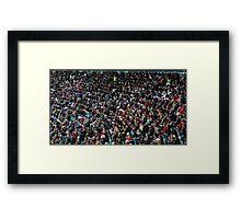 fans at the stadium  Framed Print