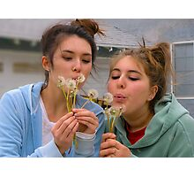 The innocence of dandelions... Photographic Print