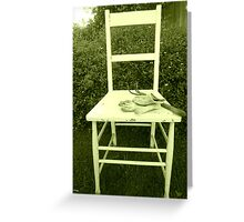 Jardin Chaise Greeting Card
