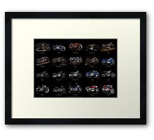 Classic Motorcycles Framed Print