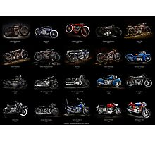 Classic Motorcycles Photographic Print