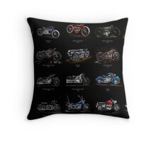 Classic Motorcycles Throw Pillow