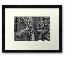 old bronze cannon   Framed Print