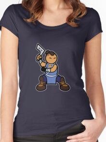 Sokka with boomerang Women's Fitted Scoop T-Shirt