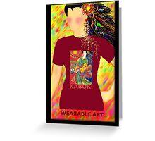 Kabuki, Wearable Art Greeting Card