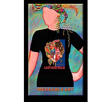 Lady Australia, Wearable Art,Greeting Card or Small Print Photographic Print
