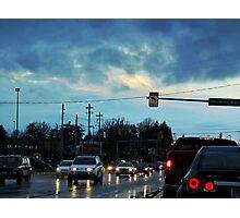 Rainy Day Traffic Photographic Print