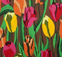 Tulips iPhone & iPad & iPod case by Marjolein