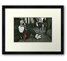 Downtime. (Soho, London) Framed Print