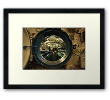 aboard submarine  Framed Print