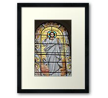 Jesus Christ and the angels       Framed Print