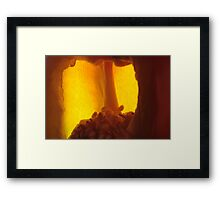 warm & secret nest Framed Print