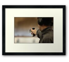 Man with a pistol   Framed Print