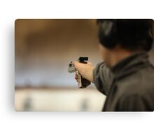 Man with a pistol   Canvas Print