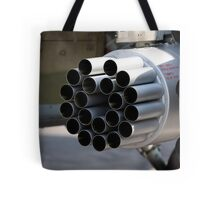 helicopter gun Tote Bag