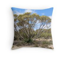 7. Mallee Forest and Wild Flowers Throw Pillow