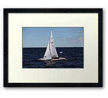 yacht   Framed Print