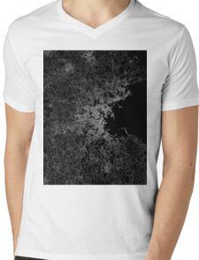 Boston map Mens V-Neck T-Shirt