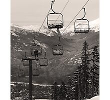 A Very Relaxed Chairlift Photographic Print