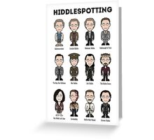 Hiddlespotting (poster/card/notebook) Greeting Card