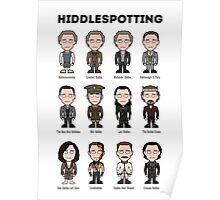 Hiddlespotting (poster/card/notebook) Poster