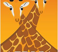Giraffes Africa by Rob Johnston