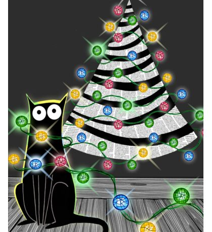 Paper Christmas Tree Sticker