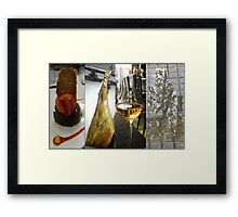 The way to spend a rainy day! Framed Print