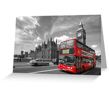 London Big Ben & Red Bus Greeting Card