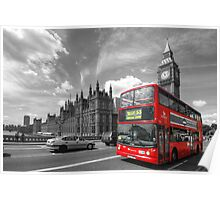London Big Ben & Red Bus Poster