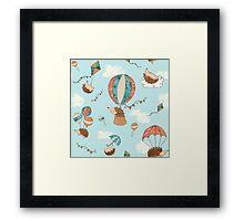 Flying hedgehogs! Framed Print