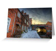 Snowy Canal Footpath Greeting Card
