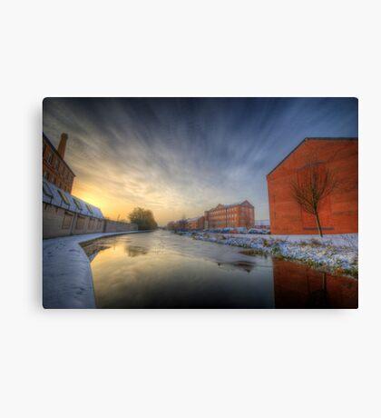 River Sunrise Canvas Print