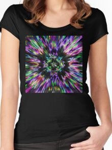 Colorful Tie Dye Abstract Women's Fitted Scoop T-Shirt