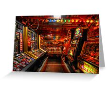 Slot Machines Greeting Card
