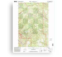 USGS Topo Map Washington State WA Manastash Lake 242167 2000 24000 Canvas Print