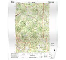 USGS Topo Map Washington State WA Manastash Lake 242167 2000 24000 Poster