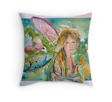 Earthly Butterfly Throw Pillow