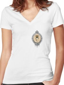 """""""Honey...You should see me in a crown!"""" Women's Fitted V-Neck T-Shirt"""
