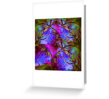 Dragonfly Hippy Flit Greeting Card
