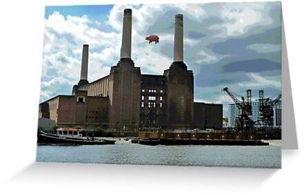 Battersea Power Station( pihk floyd pig) by Tim Healy