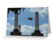 Battersea Power Station( pihk floyd pig) Greeting Card