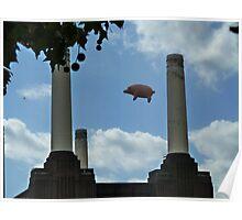 Battersea Power Station( pihk floyd pig) Poster