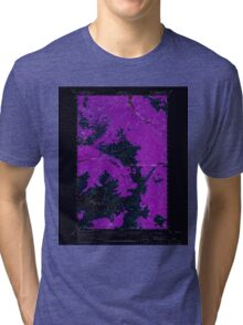 USGS Topo Map Washington State WA Mount Olympus 242518 1956 62500 Inverted Tri-blend T-Shirt