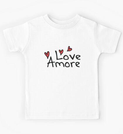 LOVE AMORE Kids Tee